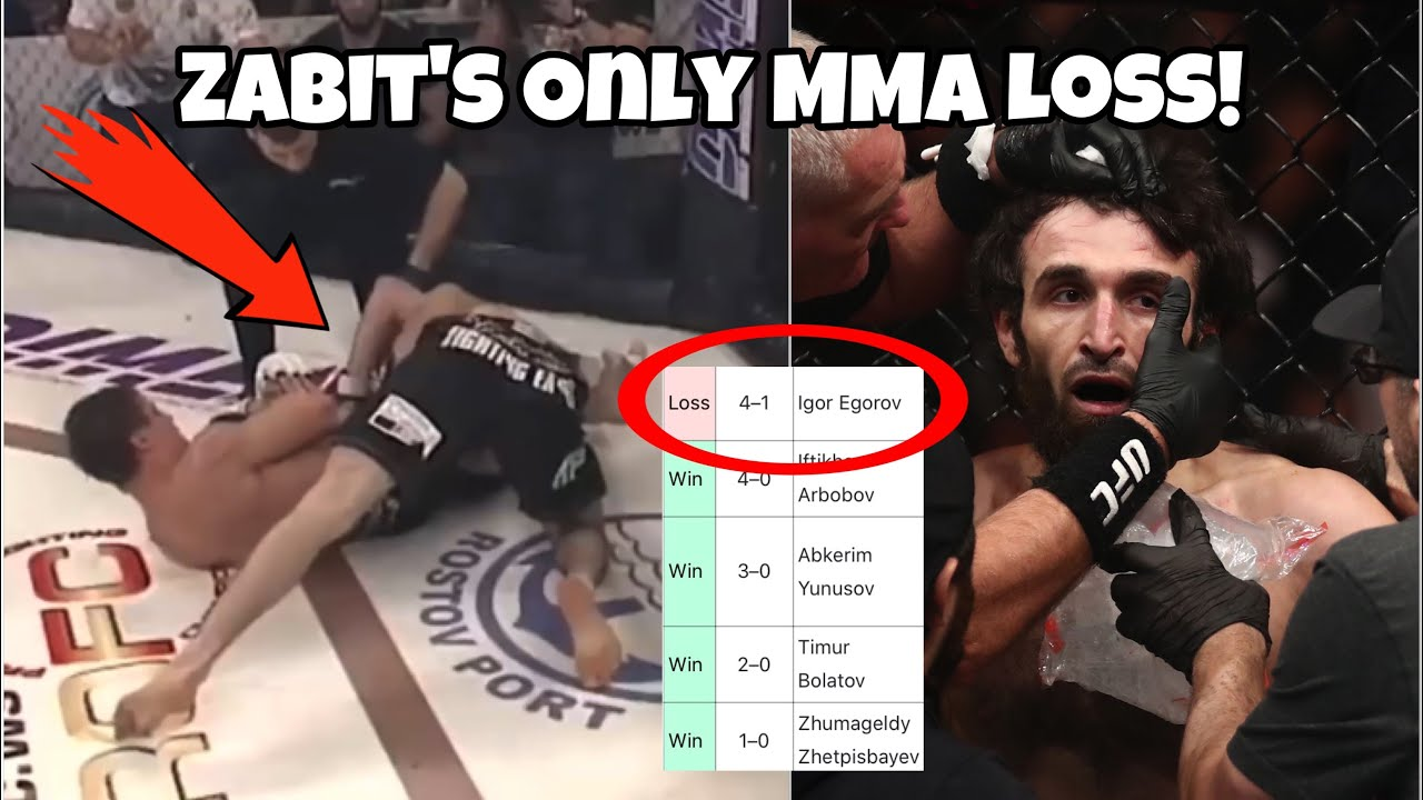 Zabit's Only Loss in MMA ☹️