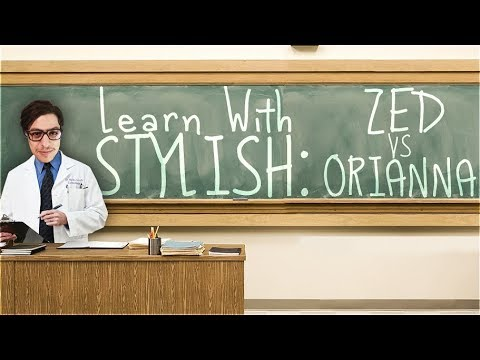 LEARN WITH STYLISH | IN DEPTH GAME COMMENTARY - ZED VS ORIANNA