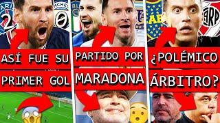 GOLAZO de MESSI con PSG vs CITY ARGENTINA e ITALIA por MARADONA POLEMICO arbitro de RIVER vs BOCA