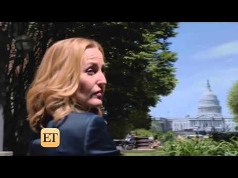 David Duchovny & Gillian Anderson Interview E. Tonight