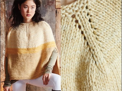 16 Colorblocked Poncho Vogue Knitting Fall 2014 Youtube