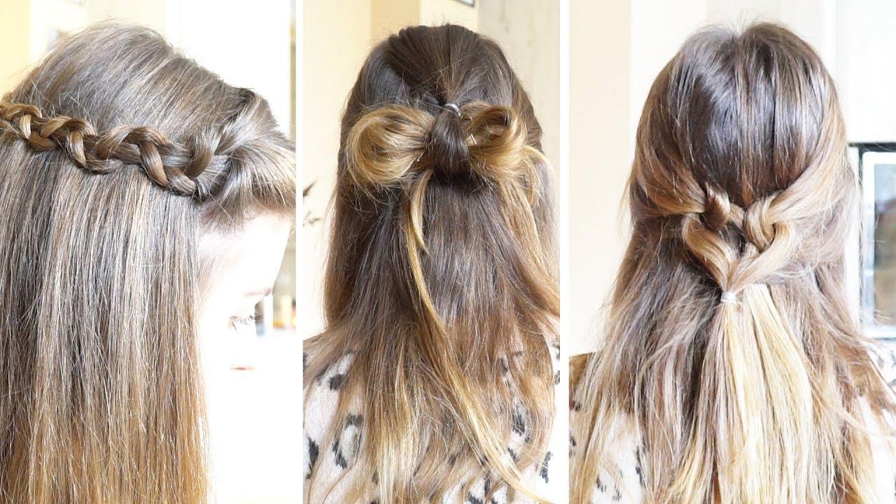 3 TOLLE halboffene Frisuren in 5 MINUTEN  FrisurenFreitag