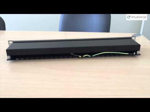 """Patch Panel VALUE Cat.5e 19"""" 24 Ports, STP black - kabelių paskirstymo panelė"""