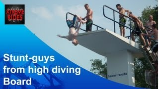Stunt-Guys from High Diving Board / Duikpit 7 Meter Heidestrand, Zonhoven België