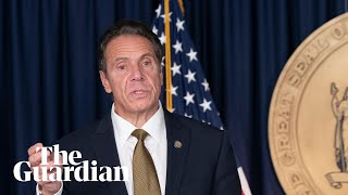 New york governor andrew cuomo has denounced donald trump over remarks he made telling americans 'to get out there' and not fear covid-19. attacked tru...