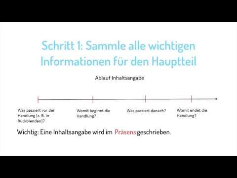 Wie Du Den Hauptteil Einer Inhaltsangabe Schreibst Deutsch 7