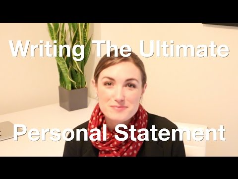 How To Write Killer Personal Statement