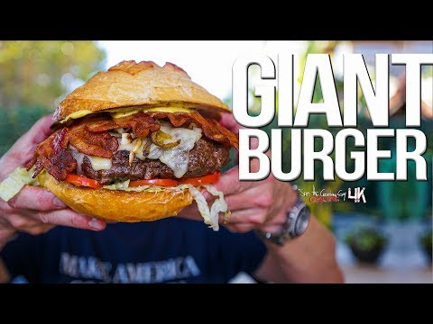 The Best Giant Burger | SAM THE COOKING GUY 4K