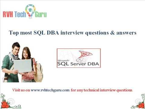 sql dba interview questions and answers pdf