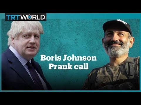 UK Foreign Secretary Boris Johnson pranked by 'Nikol Pashinyan'
