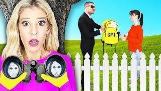 Spying On My BEST FRIEND For 24 HOURS! (What's inside Backpack at Secret Meeting?) | Rebecca Zamolo