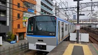 相鉄8000系(8710F)各駅停車横浜行き 相鉄線平沼橋発車