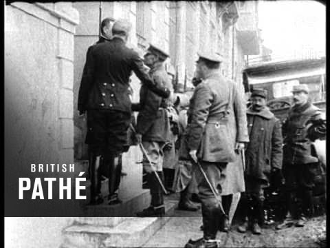 General Mahon Arrives At Salonika AKA Gen. Sir Bryan Mahon (1914-1918)