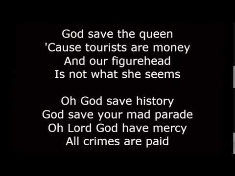 God save the queen lyrics sex pistols