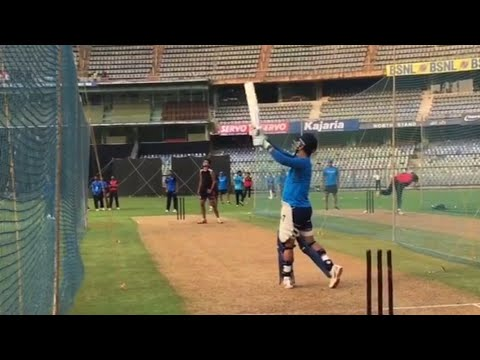 MS Dhoni hitting huge sixes in wankhede stadium | India vs New Zealand 1st ODI