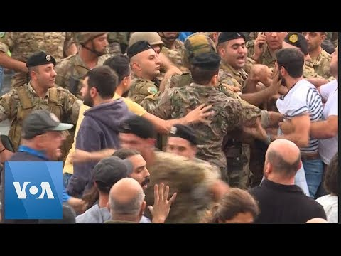 Lebanon Troops Disperse Protesters Blocking Roads