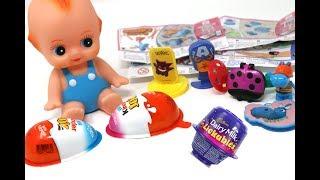 Kinder Joy Toys Avengers Dairy Milk Lickables Pokemon Happos Family Candy Unboxing Surprise Eggs