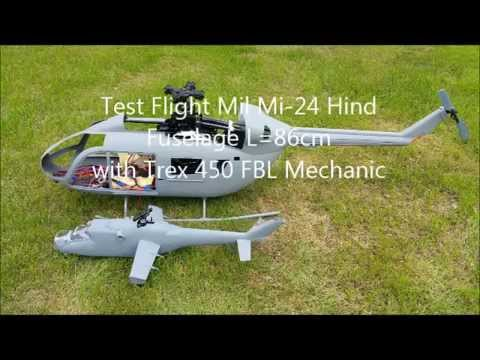 500 size 3D Printer Scale Fuselage Mil mi hind using Trex 450