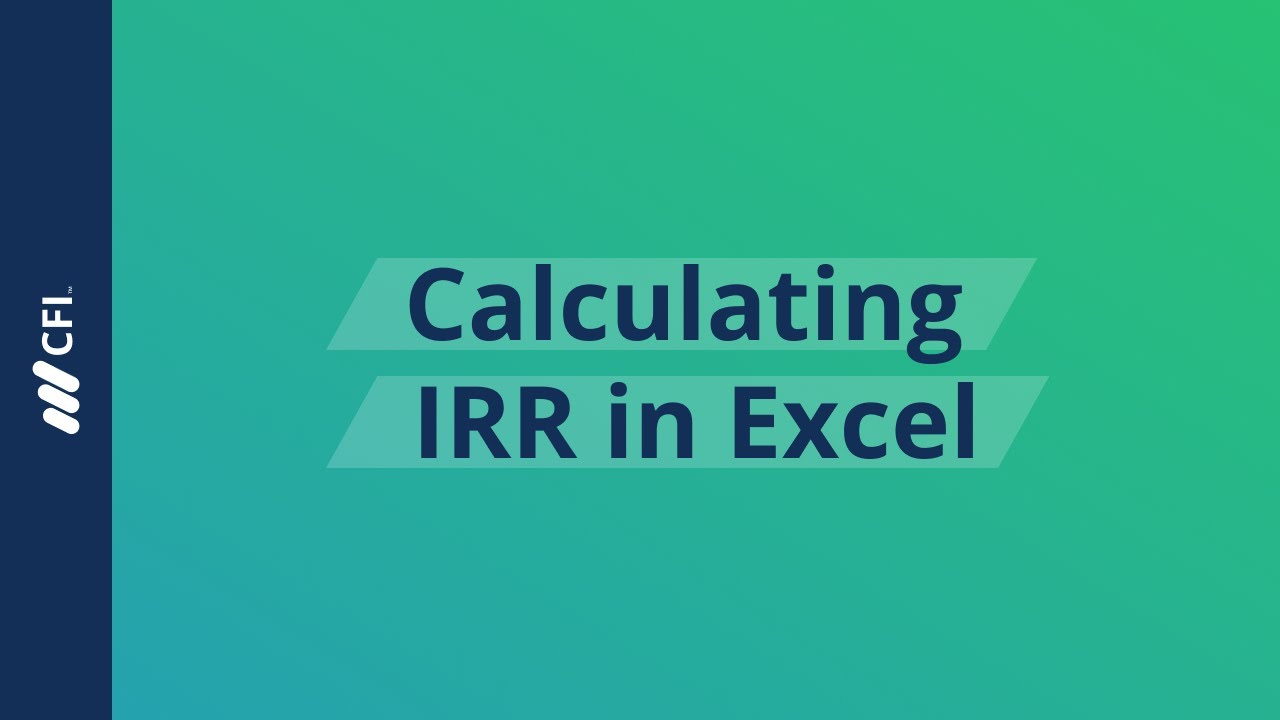 Cash Flows Via Multiple Channels To >> Calculating Irr Using Xirr On Excel