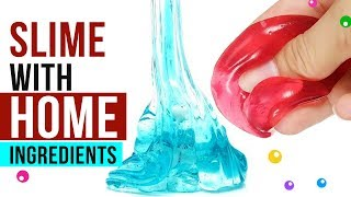 NO GLUE HOME INGREDIENTS SLIME Testing Easy Slime Recipes Under 5 Minutes #3