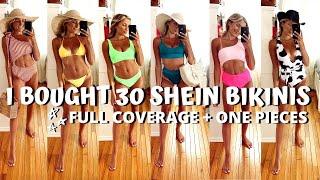 SHEIN BIKINI TRY ON HAUL // full coverage + one pieces