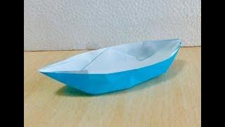 Cara membuat perahu. Origami. Seni melipat kertas.