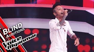 Arkar Aung Khin Win - ငါတမ္းတေနမွာ (Doe Lone) | Blind Audition - The Voice Myanmar 2019