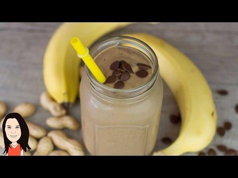 Chocolate Peanut Butter Smoothie - Dairy Free Thick Shake Recipe!