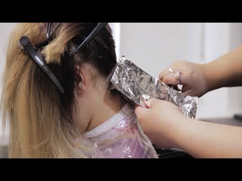 Осветление волос видеоурок