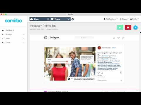 Instagram Bot - Get real followers, likes, and comments - Somiibo