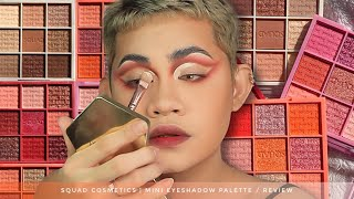 GRABE 149 PESOS LANG?? NEW SQUAD COSMETICS 'MINI EYESHADOW PALETTE' REVIEW + TUTORIAL | Sandee Proud