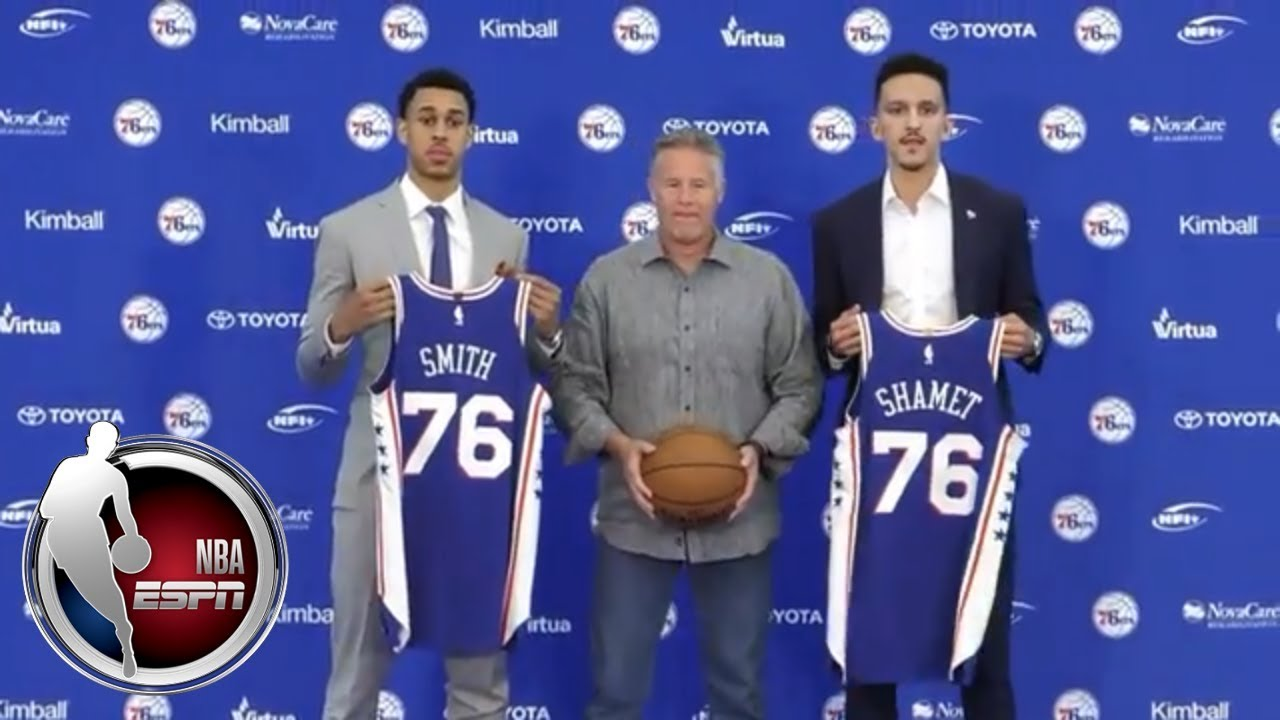 wholesale dealer e3734 4544e [FULL] Zhaire Smith introductory Philadelphia 76ers press conference | NBA  on ESPN
