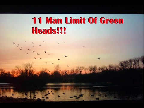 Minnesota Duck Hunting- Ice Hole Mallards!!!