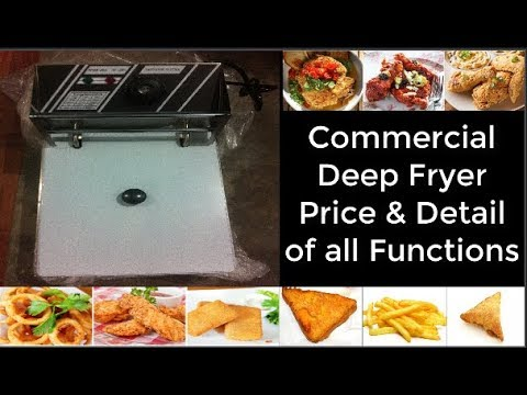 Commercial Deep Fryer Price in India and Delhi Electric - Gas