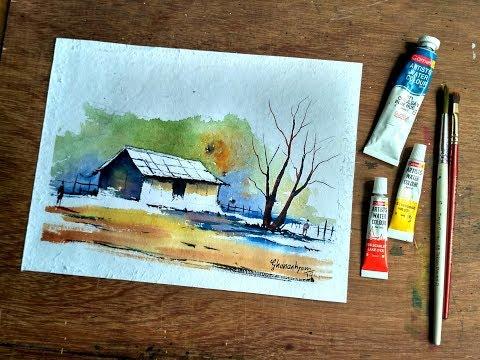 Time Lapse | Simple Village House Landscape