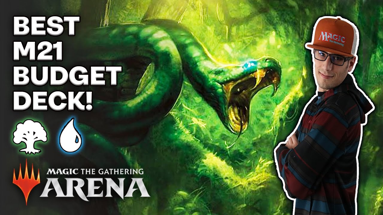 🐟🐍 Simic Budget Draw STRONGEST Beginner MTG Arena M21 deck 🐍🐟Common Combos Episode 6