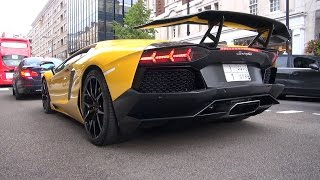 Arab DMC Lamborghini Aventador LP700-4 on the road in London