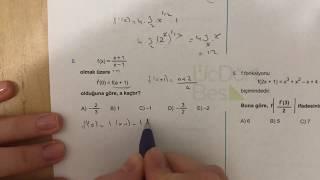 345 AYT Matematik TÜREV-I Ösym-2 Anlatımlı Çözümleri (2018-2019 basım)