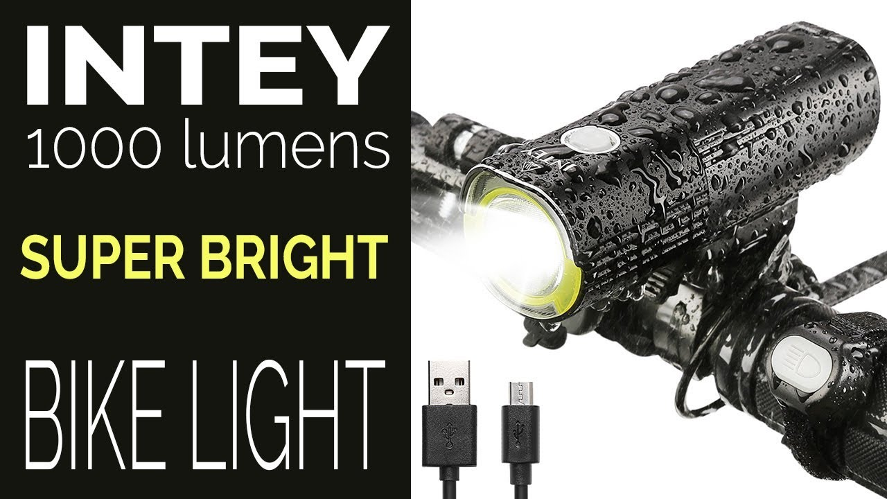 Bicycle Light Reviews >> Intey 1000 Lumens Bike Light Reviews Daylight Test And Night Time