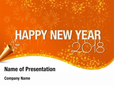 2018 new year card powerpoint template backgrounds digitalofficepro 00855