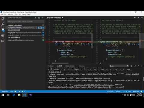 TFVC Source Code Control in Visual Studio Code - YouTube