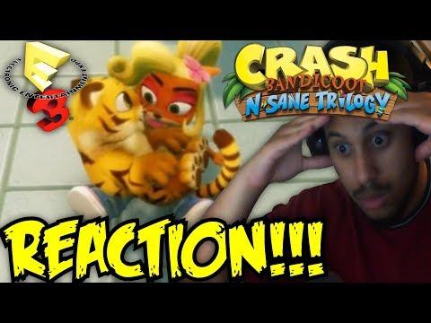 SHE WINKED!!! Crash Bandicoot N. Sane Trilogy COCO BANDICOOT Gameplay AND MORE! E3 2017 REACTION!!!
