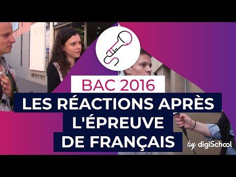 Bac 2016 : les réactions après l'épreuve de Français