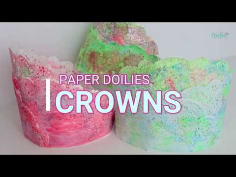 DIY PAPER DOILIES CROWNS