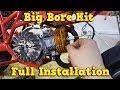 Big Bore Kit Installation Instructions - 49cc Pocket Bike Engine PS50 from Nitro Motors