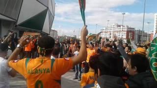 ALANYASPOR adanademirspor maçı öncesi kutlamalar