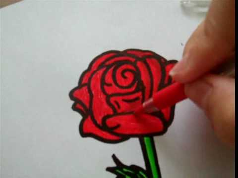 How to draw a rose on paper for randomrainbow11 youtube how to draw a rose on paper for randomrainbow11 mightylinksfo