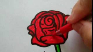 How to draw a rose on paper [for RandomRainbow11]