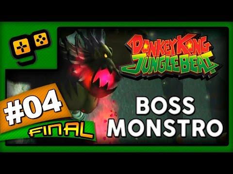 Let's Play:Donkey Kong Jungle Beat - Parte 4 [FINAL] - Boss Monstro