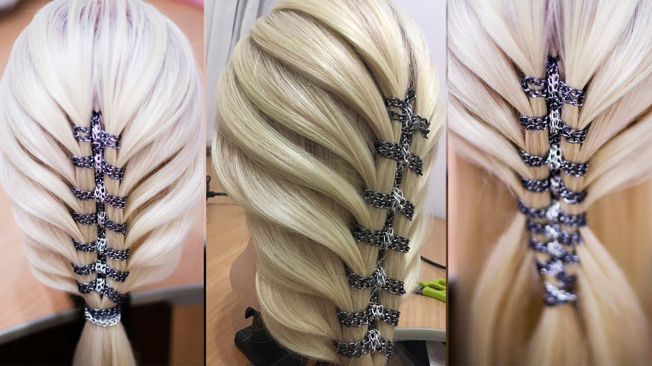Коса с двойной цепочкой Воздушная причёска Hair tutorial